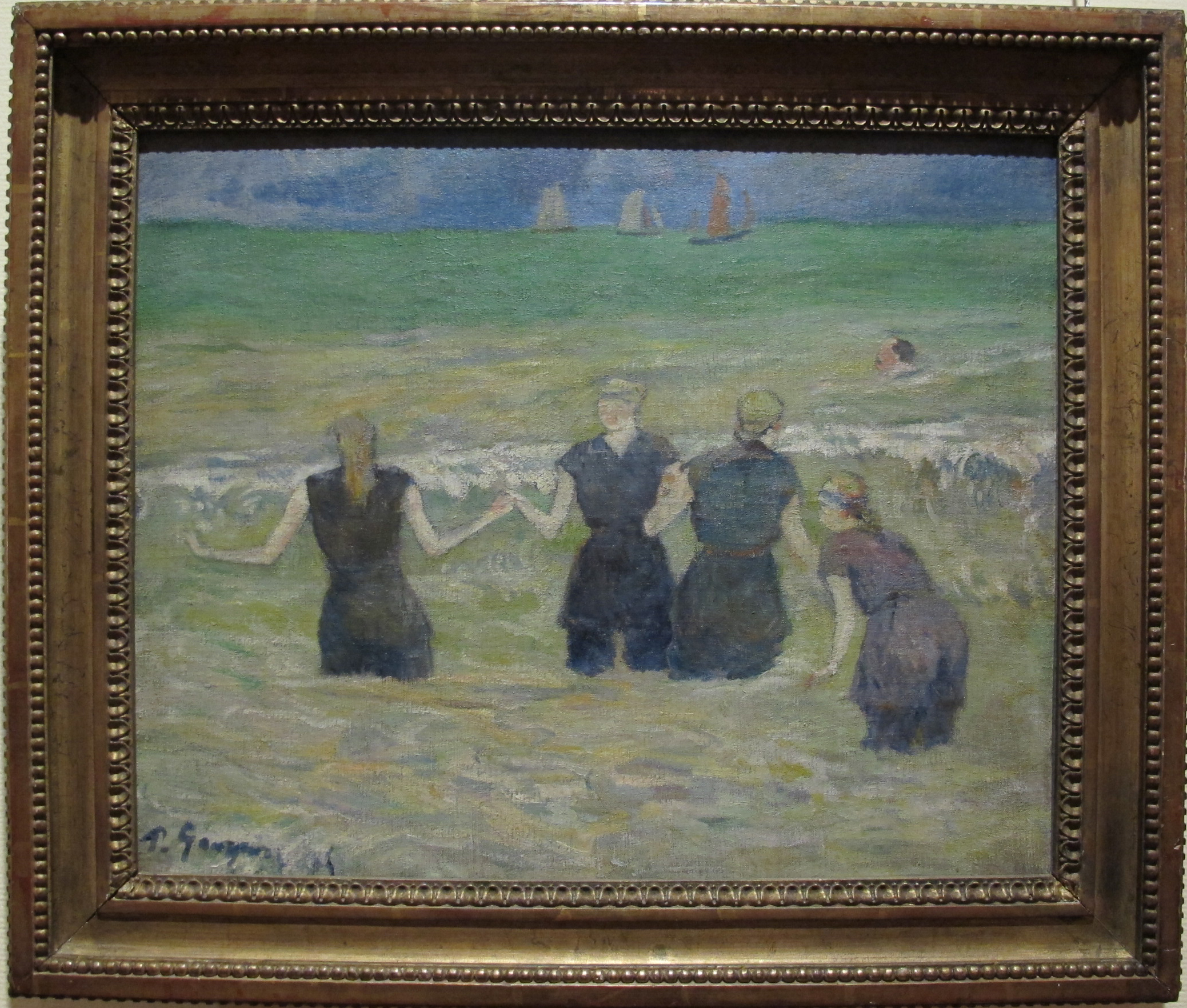 File paul gauguin donne al bagno 1885 jpg wikimedia commons - Donne al bagno pubblico ...