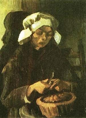 Patate qui danse  - Page 2 Peasant_woman_peeling_potatoes_by_Vincent_Van_Gogh