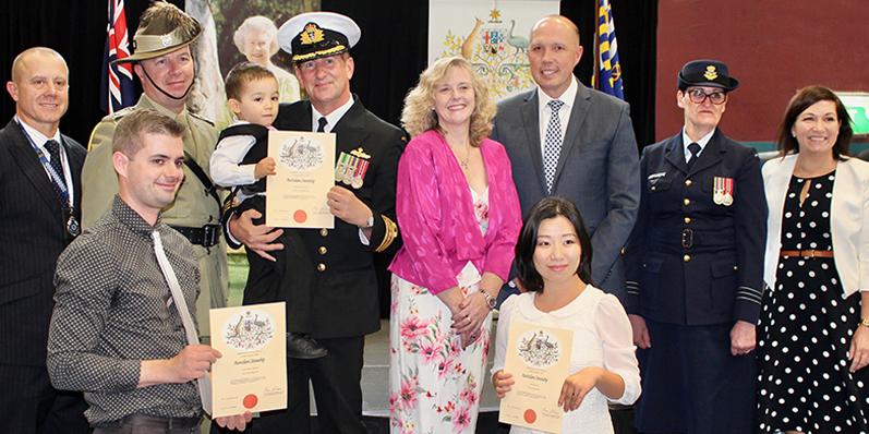 A citizenship ceremony in Australia