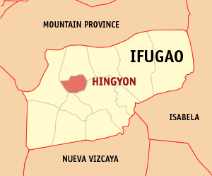 Mapa na Ifugao ya nanengneng so location na Hingyon