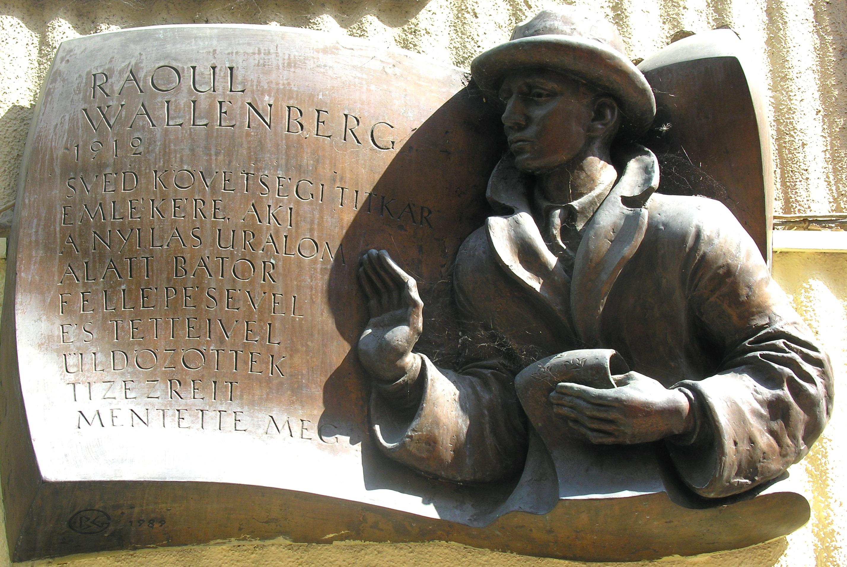 Placa en honor a Raoul Wallenberg en Budapest, Hungría