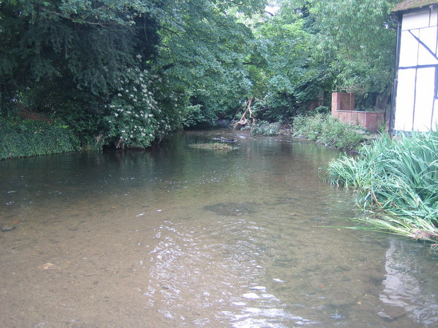 River Lee in Wheathampstead - geograph.org.uk - 466057