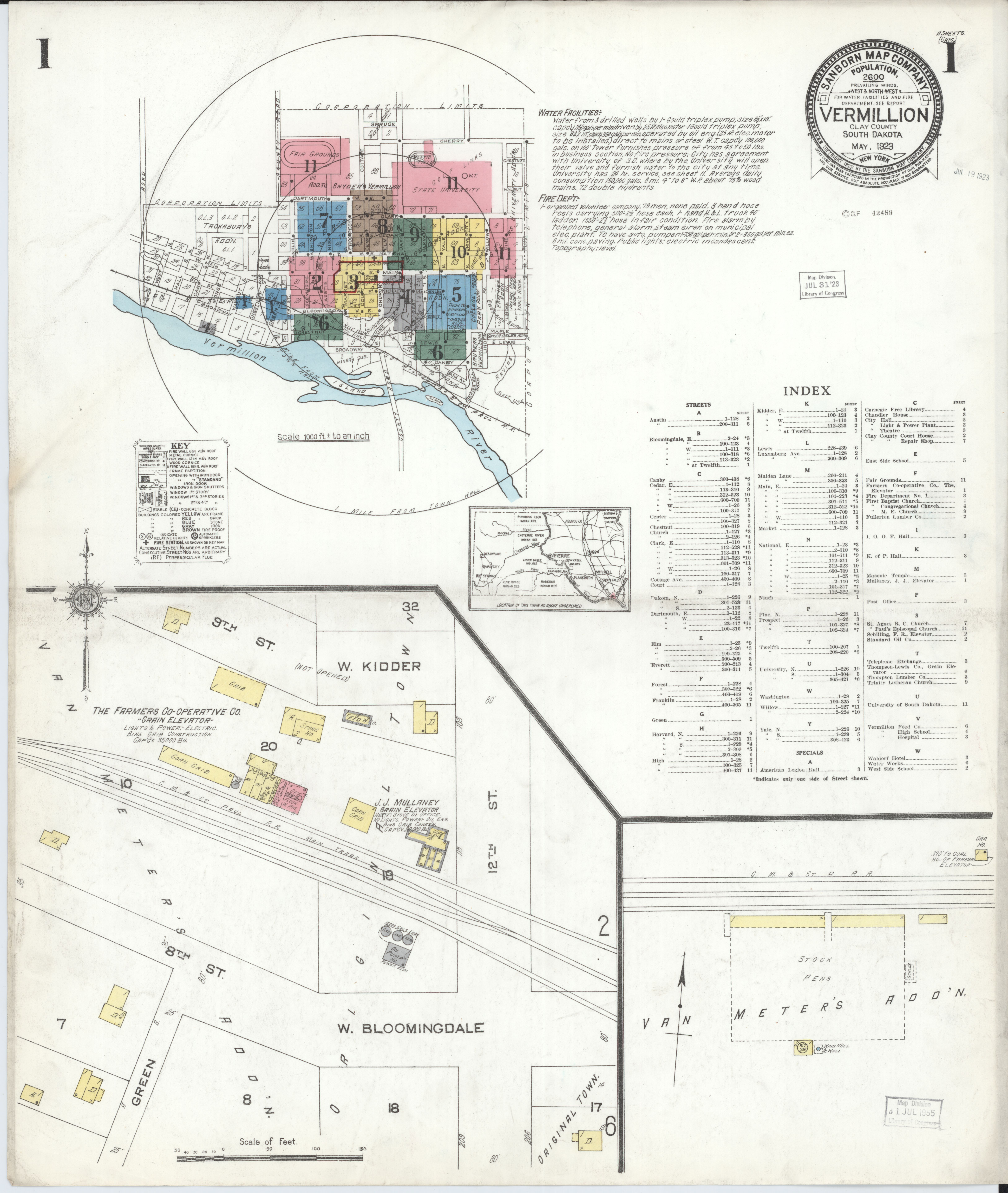 File:Sanborn Fire Insurance Map from Vermillion, Clay County