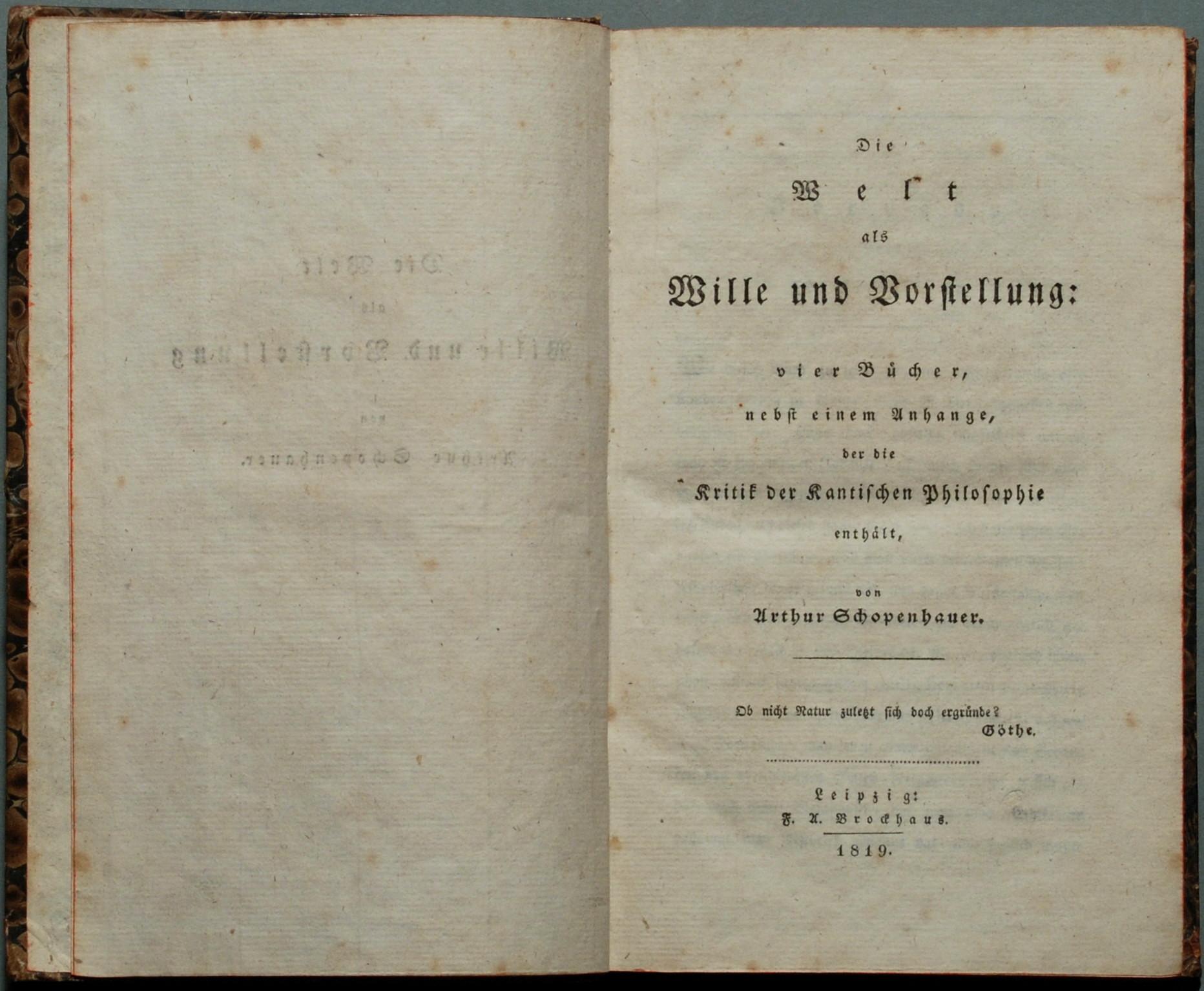 Hume La Credenza Nel Mondo Esterno : Pensiero di schopenhauer wikipedia