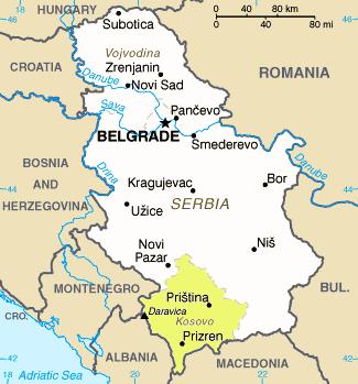 Serbia - Mappa