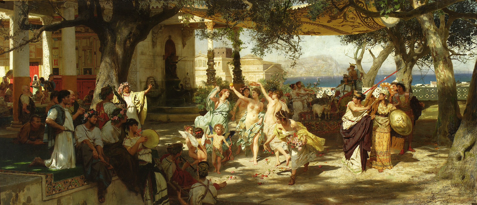 The Judgment of Paris Painting by Jacklyn Friedman
