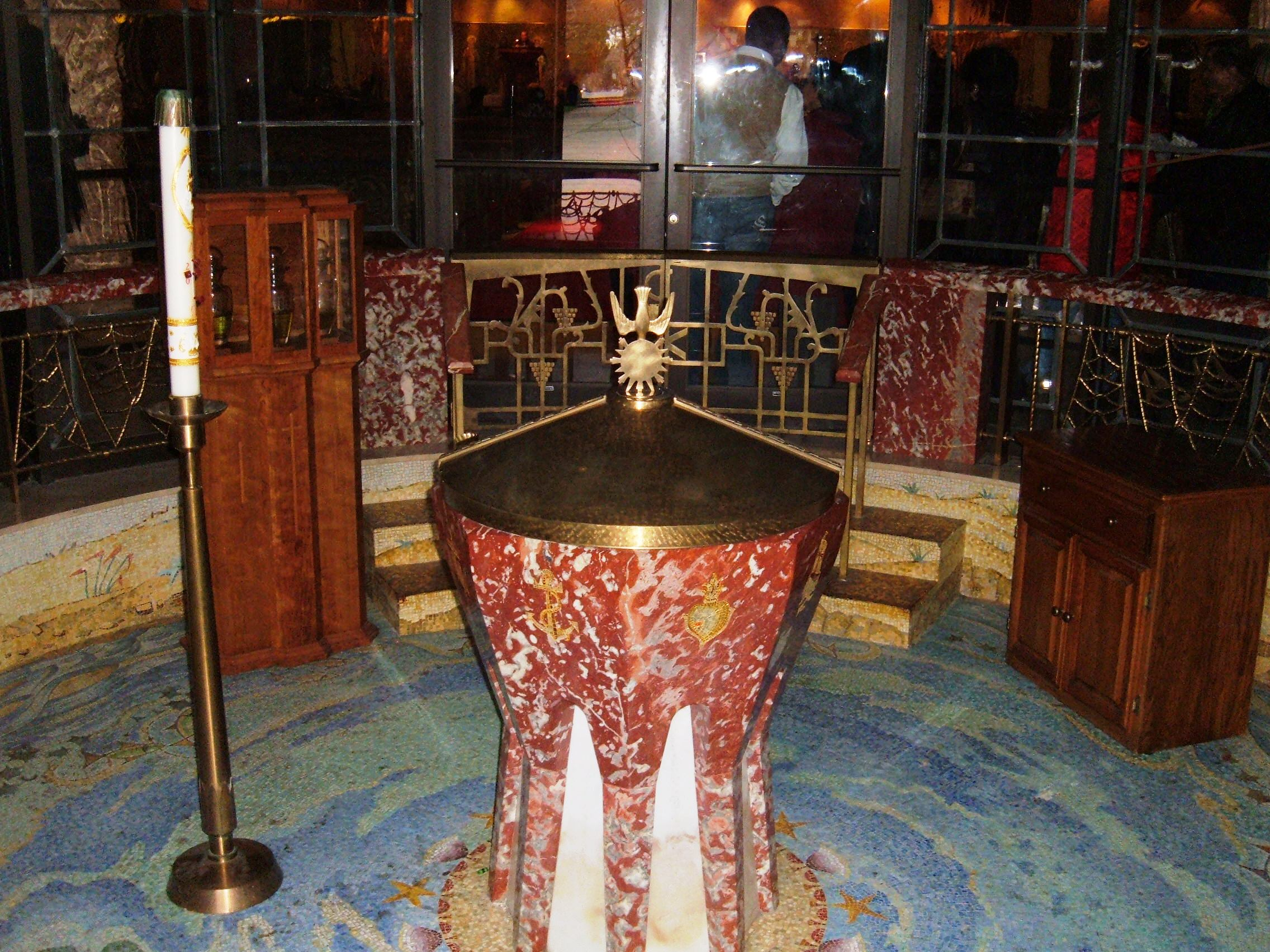 File:St. Matthew Catholic Church, San Mateo Baptismal Font.JPG