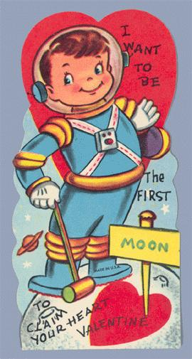 Scan of a Valentine greeting card circa 1960.