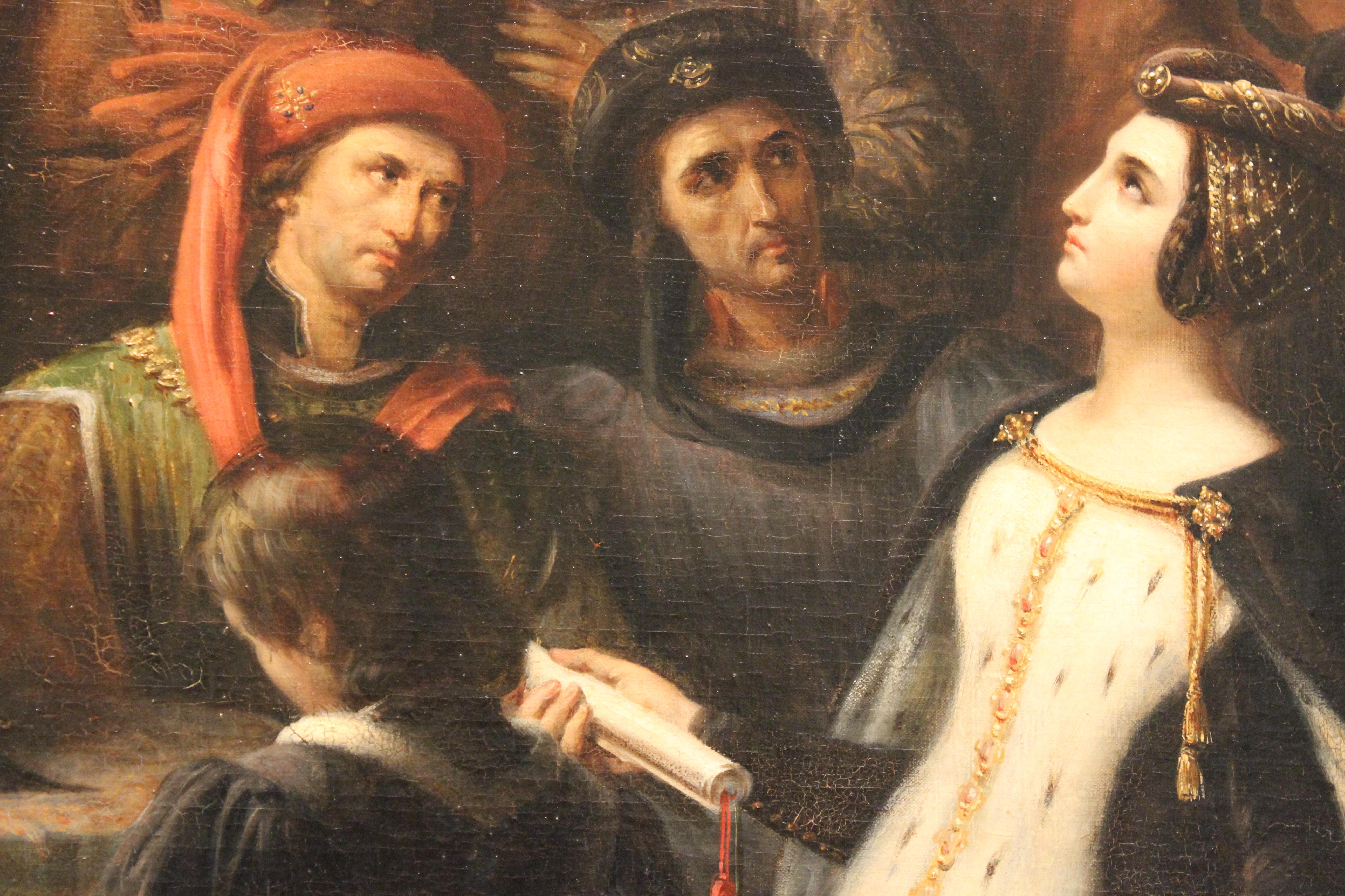 file valentine de milan implore la justice du roi charles vi pour l assassinat du duc d orleans alexandre colin mba lyon 2014 detail 6 jpg wikimedia commons