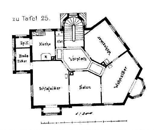 file villa kallenberg ludwigsburg architekt albert bauder aus ludwigsburg grundriss tafel 25. Black Bedroom Furniture Sets. Home Design Ideas