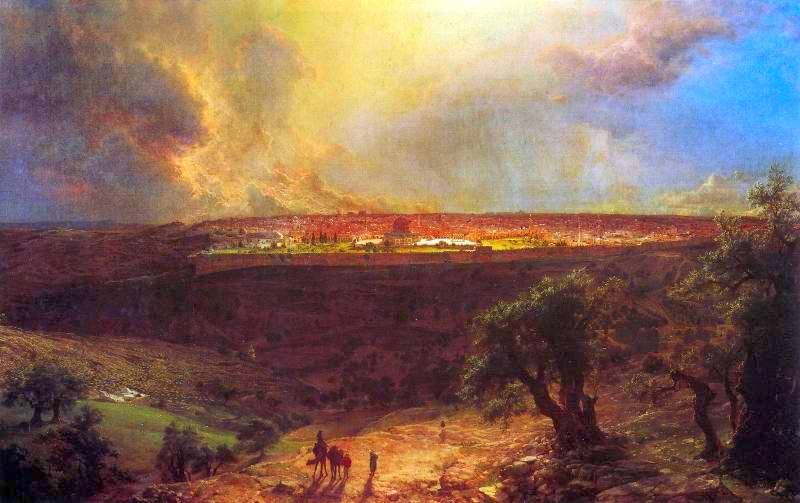 """Jerusalem from the Mount of Olives"" by Frederick Edwin Church"