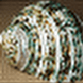 160 by 160 thumbnail of 'Green Sea Shell' - 4. fourier reconstruction from 40 x 40 (aliasing ).png