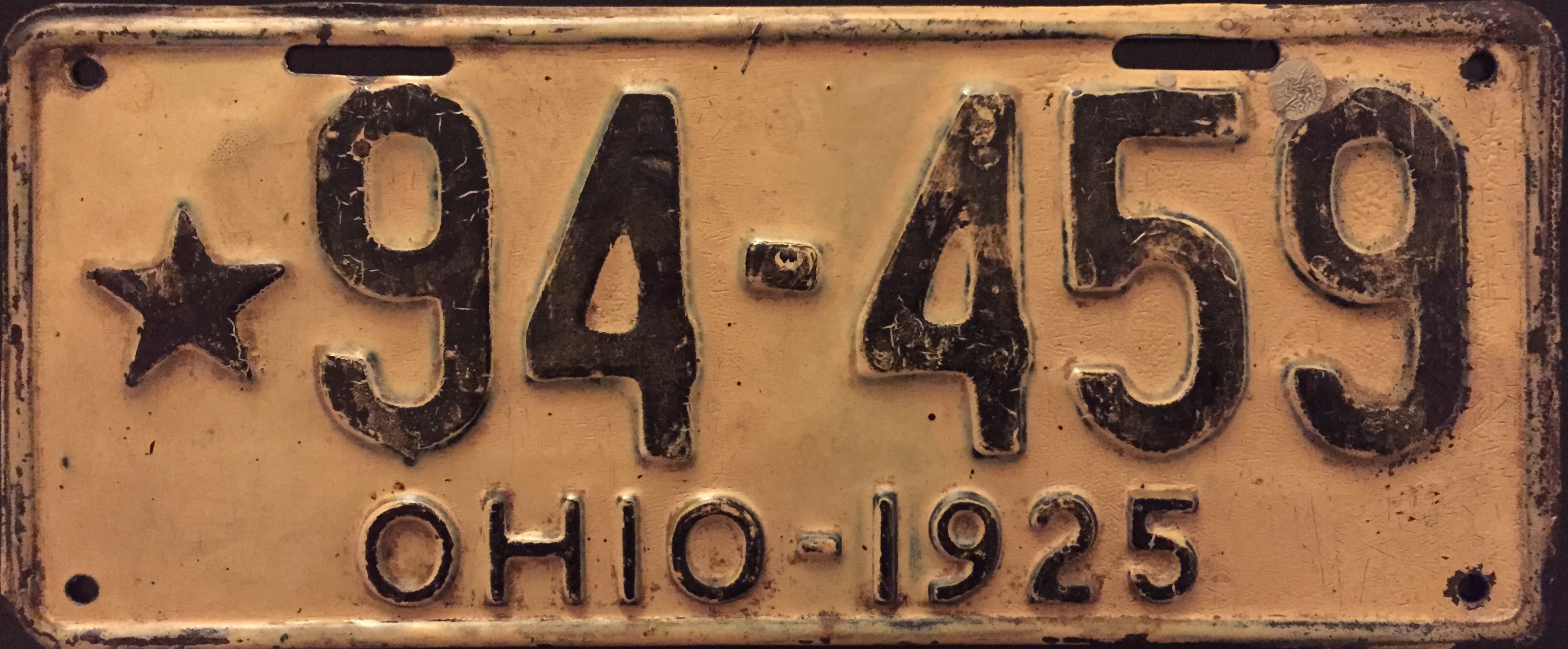 File:1925 Ohio license plate.JPG - Wikimedia Commons