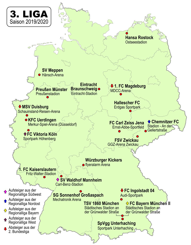 kfc in deutschland karte File:3. Fussball Liga Deutschland 2019 2020.png   Wikimedia Commons