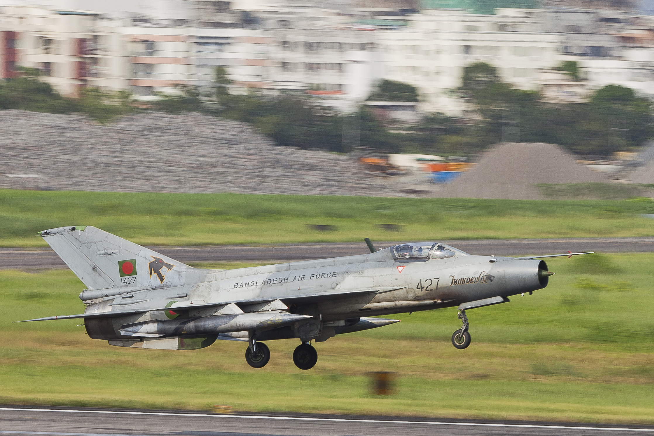File427 Bangladesh Air Force F 7 Guard Landing 8107458557