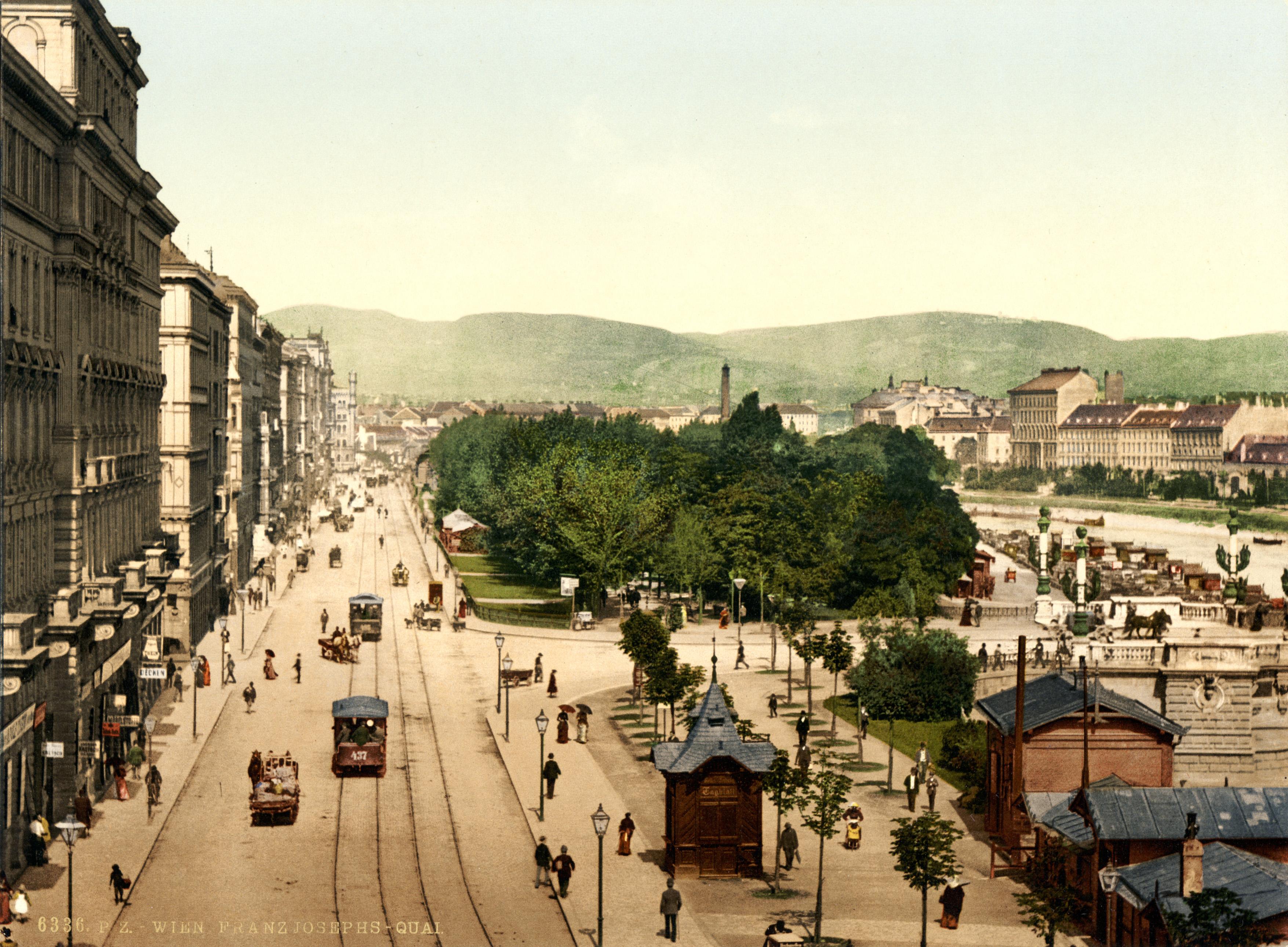 Vienna Austria  city photos : ... Francis Joseph Quay, Vienna, Austria Hungary, 1890s – Wikipedia