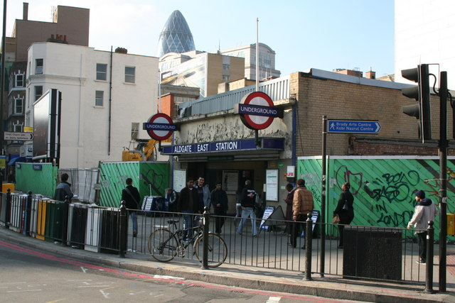 Aldgate East station, Whitechapel High Street - geograph.org.uk - 594574