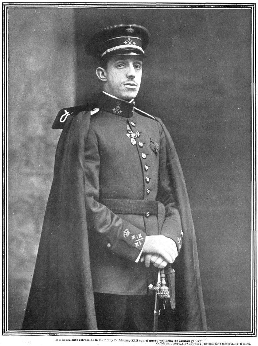 File:Alfonso XIII, de Kaulak, en Actualidades.jpg ...