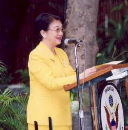 Former president of the Philippines, Corazon A...