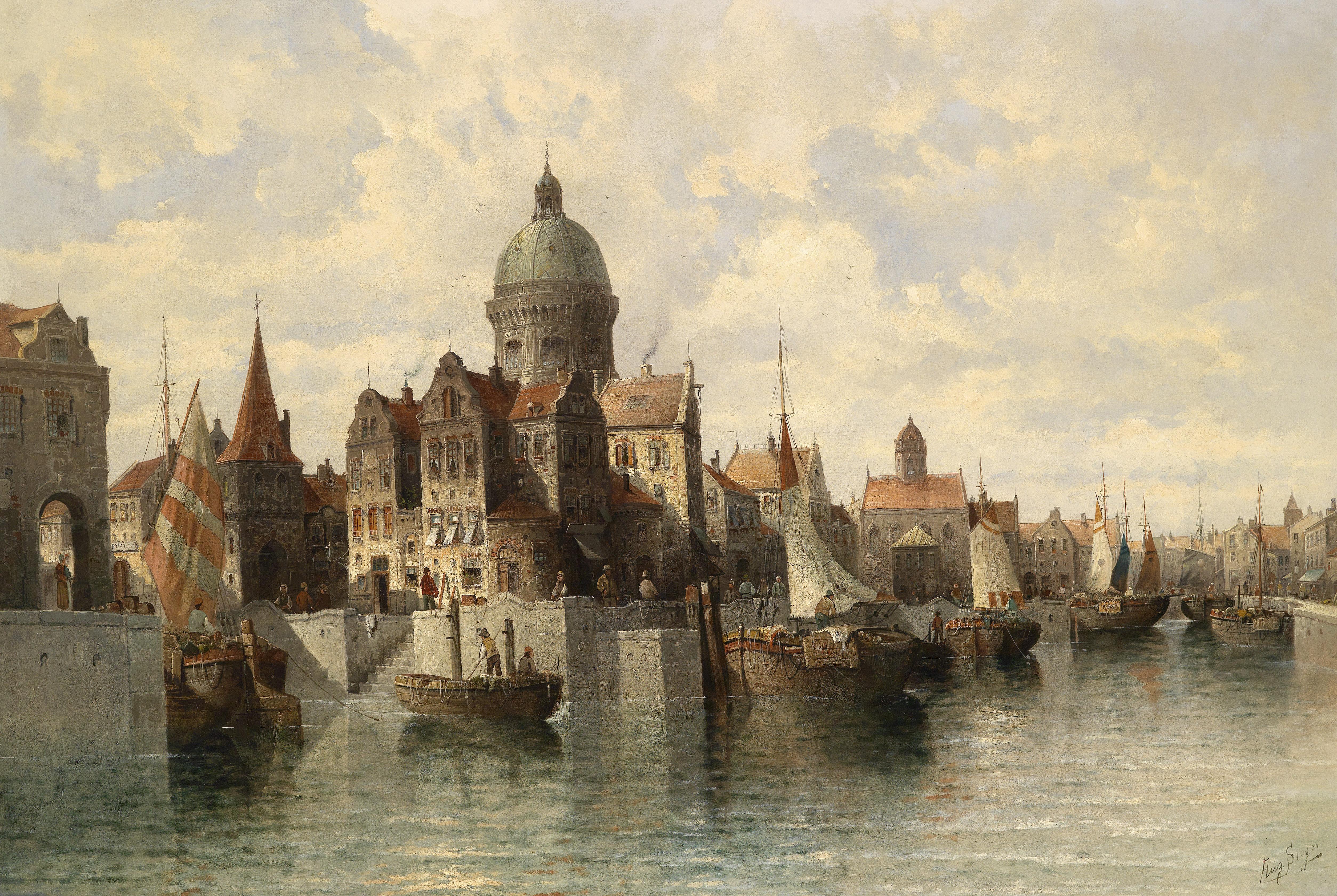 August_von_Siegen_Blick_auf_Amsterdam Faszinierend Welchen Trafo Für Led Dekorationen