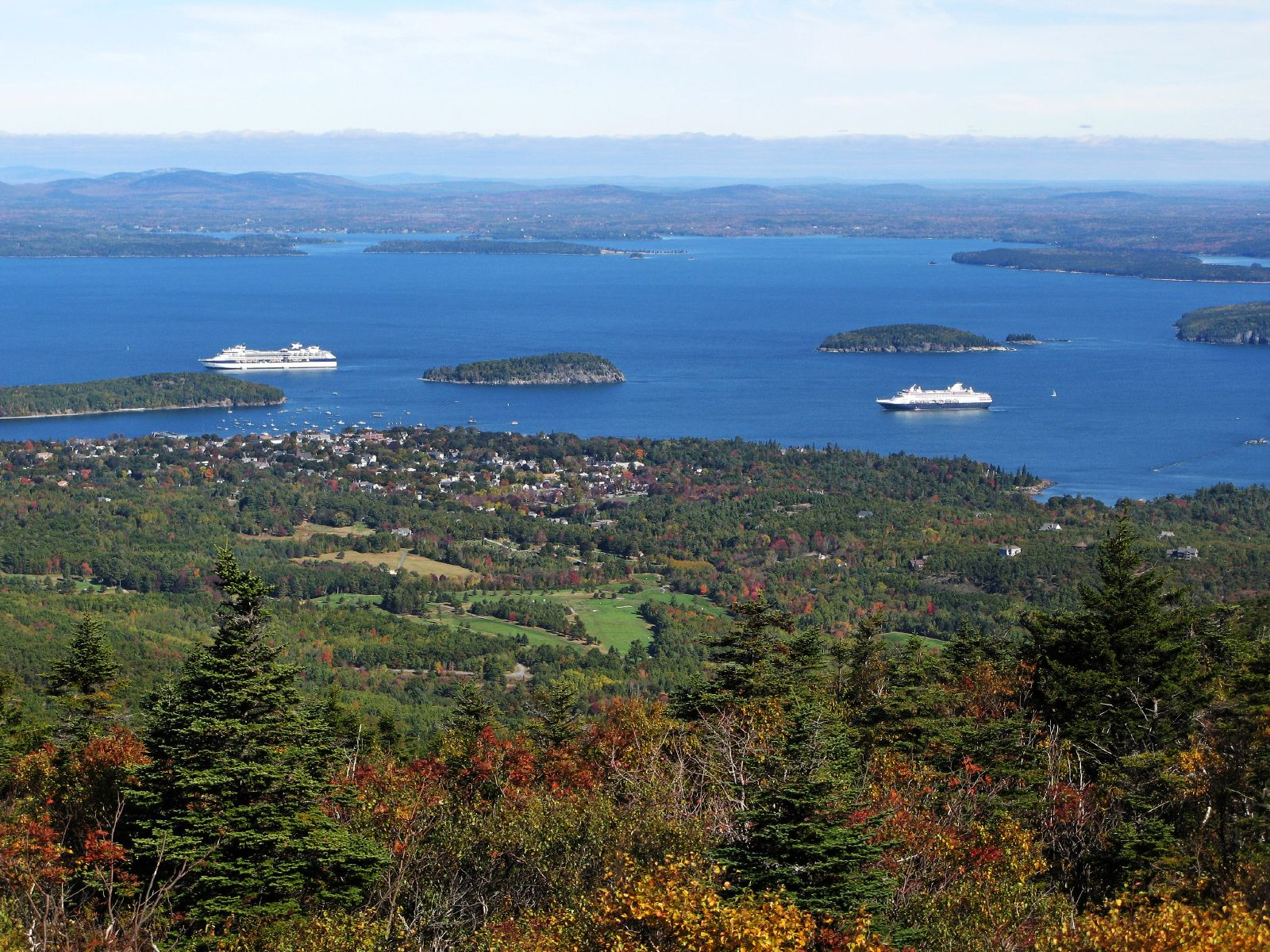Bar Harbor, Frenchman Bay, and the Porcupine Islands