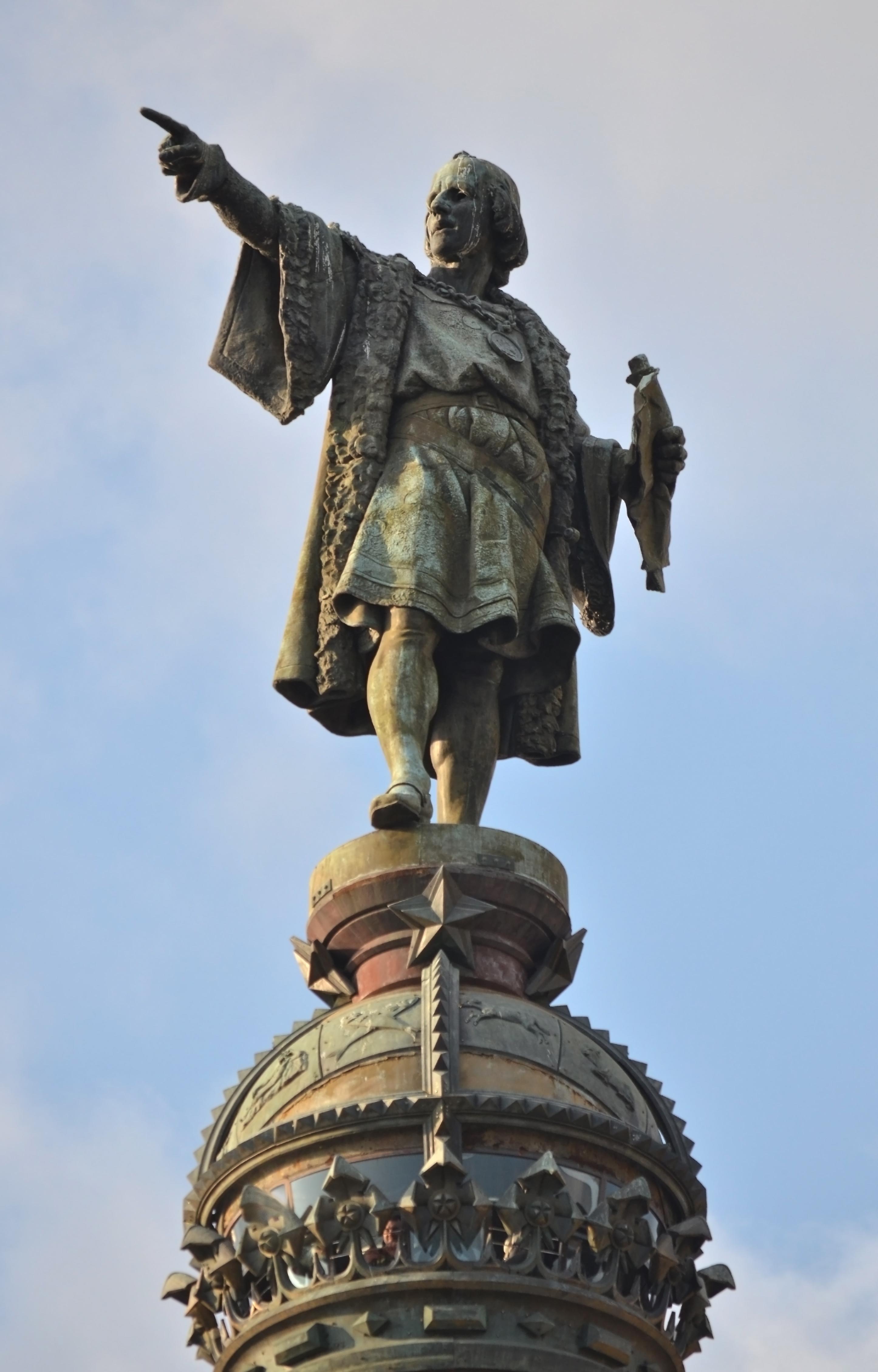 Archivo:Barcelona - Colom estatua.jpg - Wikipedia, la enciclopedia ...