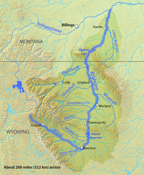 Little Bighorn River Wikipedia - Map of northern wyoming