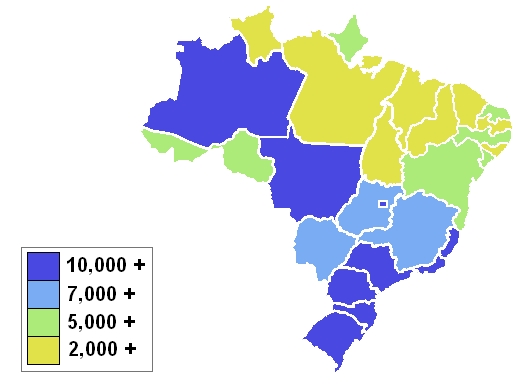 Scale of analysis geography of brazil brazilianstatesbygdppercapita this map shows the gdp per capita of brazils publicscrutiny Gallery