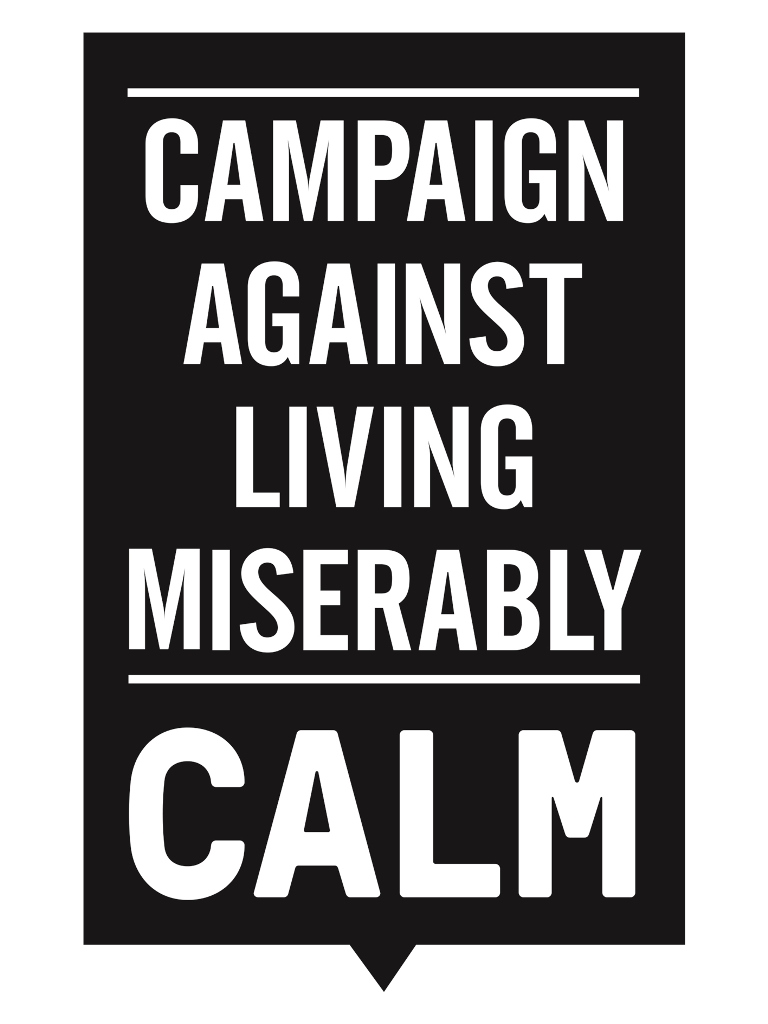Image result for calm campaign against living miserably