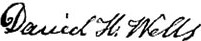 Signature of Daniel H. Wells