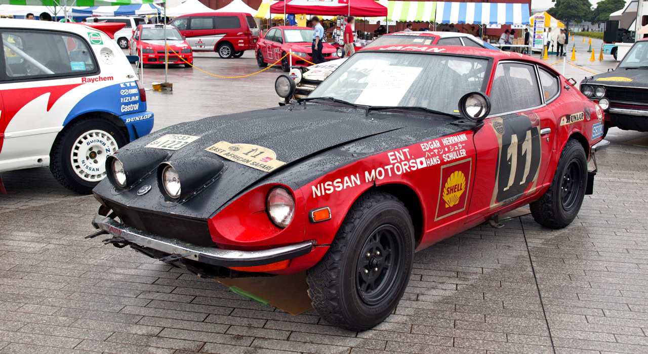 Picture of rally model Datsun 240Z, Datsun 240z modified for rally