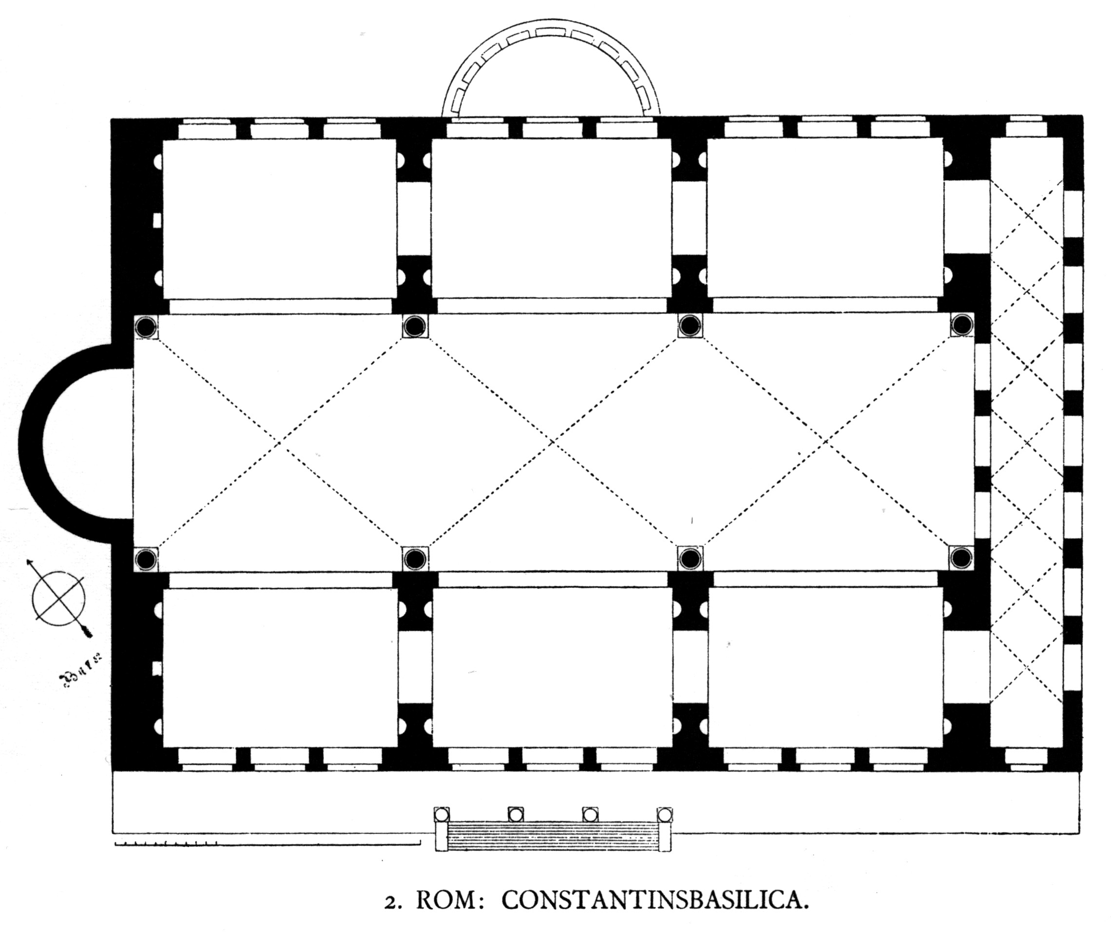 Floor Plan of the Basilica Maxentius