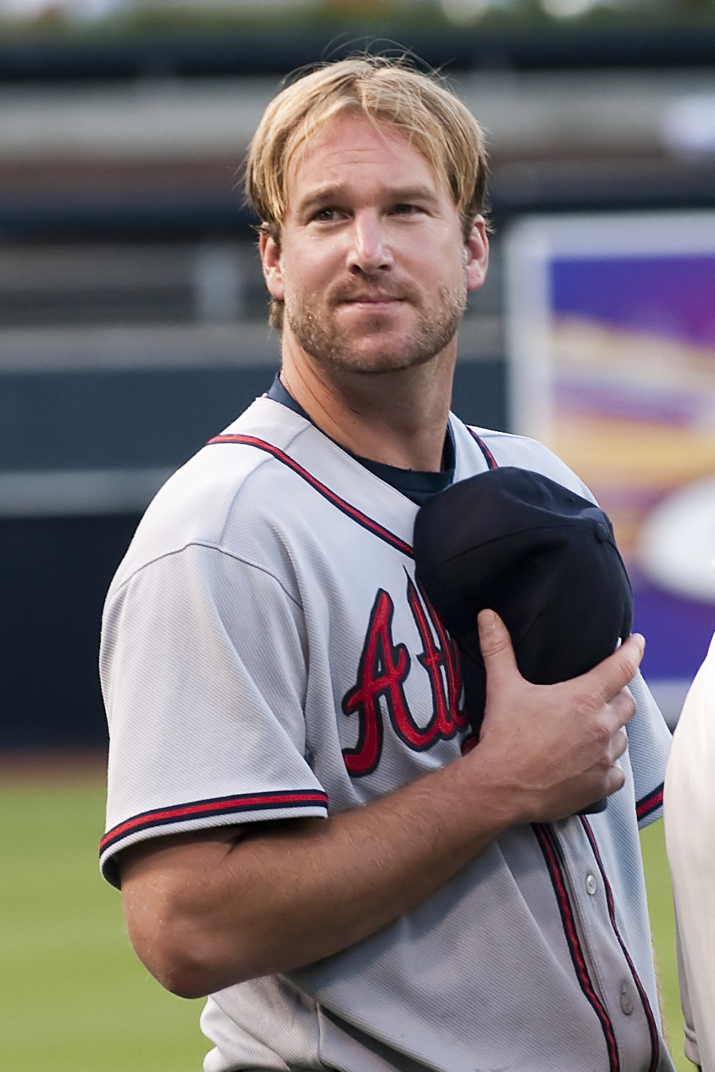 Lowe with the Atlanta Braves in 2009