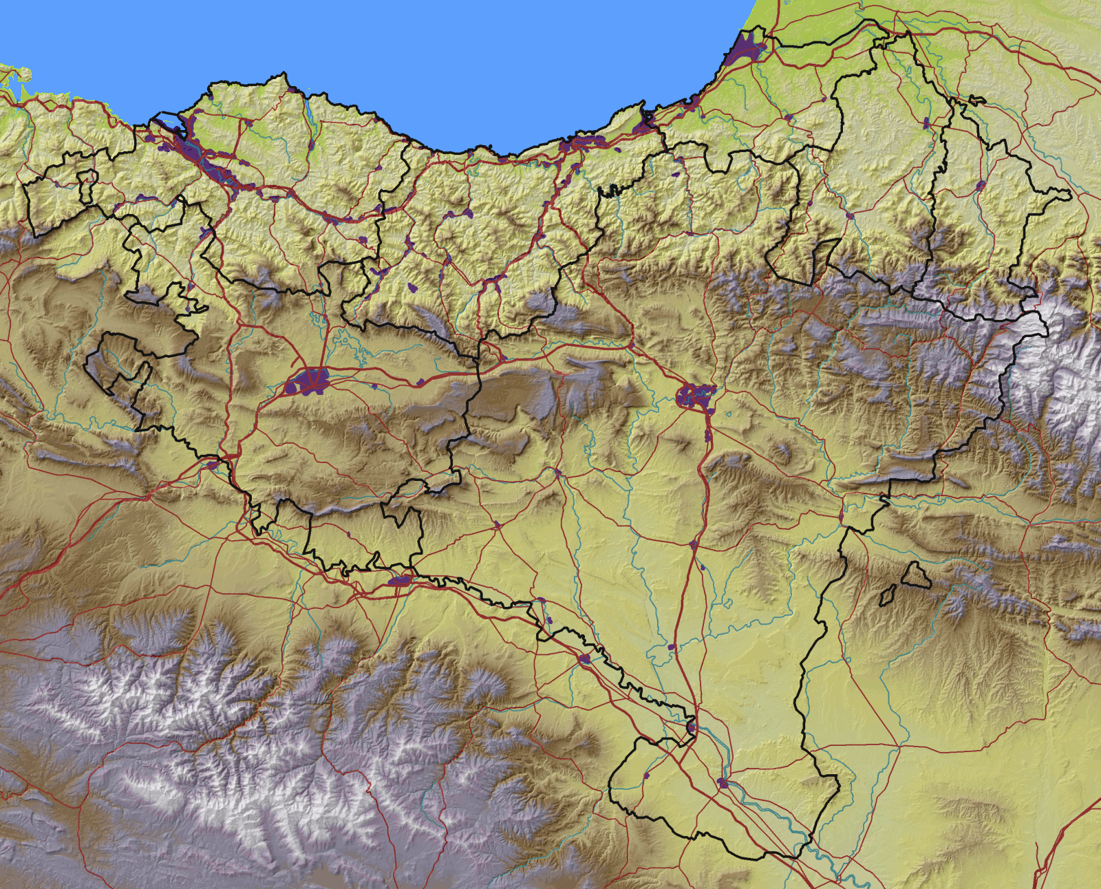 Atlas Of The Basque Country Wikimedia Commons - Basque centers us map