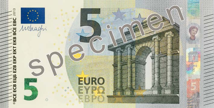 EUR 5 obverse 2nd series