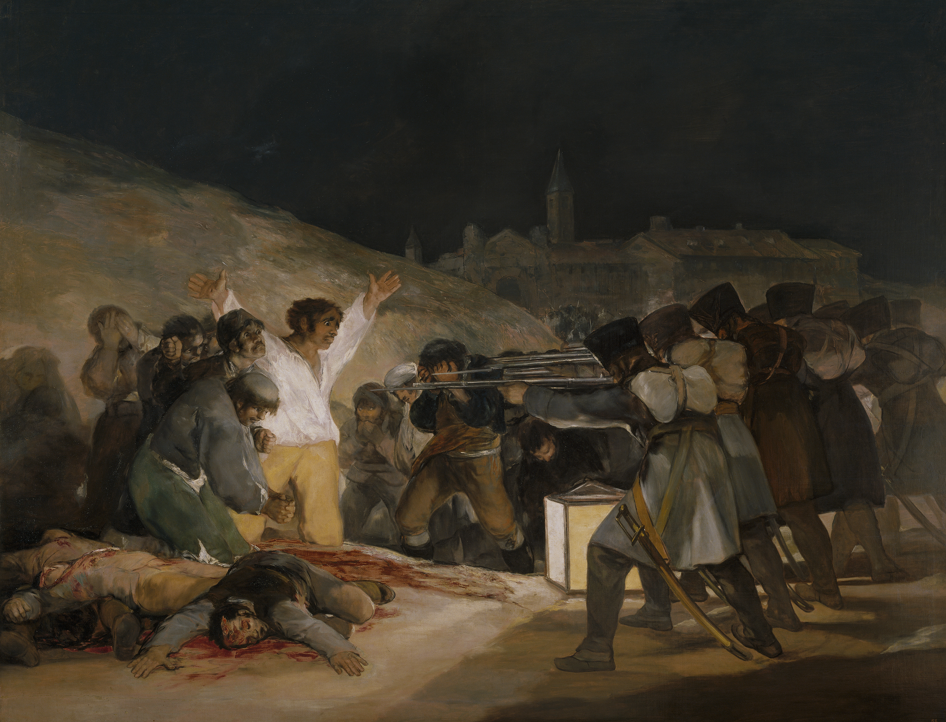 Los fusilamientos de la Moncloa, de Goya