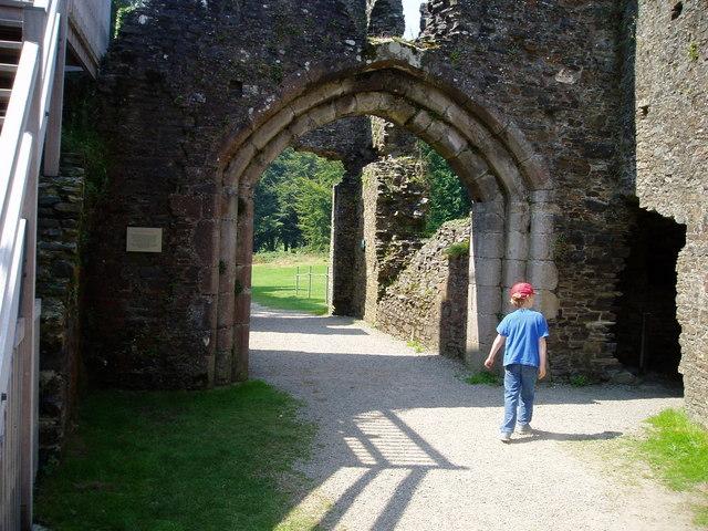 Exploring Restormel Castle - geograph.org.uk - 889883