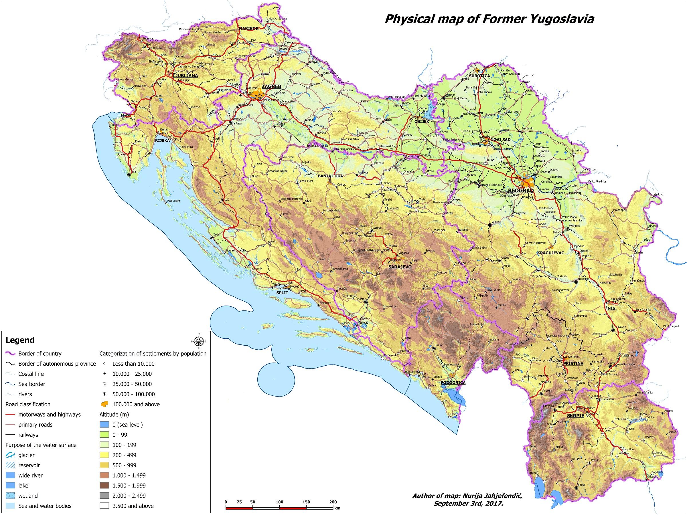 karta jugoslavije Datoteka:Fizička karta SFR Jugoslavije. – Wikipedija karta jugoslavije
