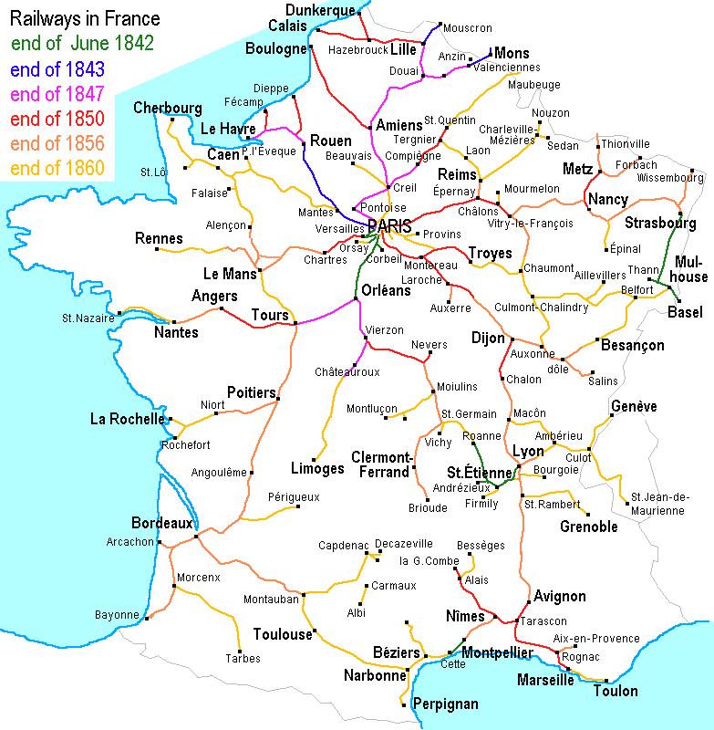 Схема железнодорожной сети