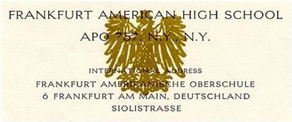 Frankfurt American High School Wikipedia
