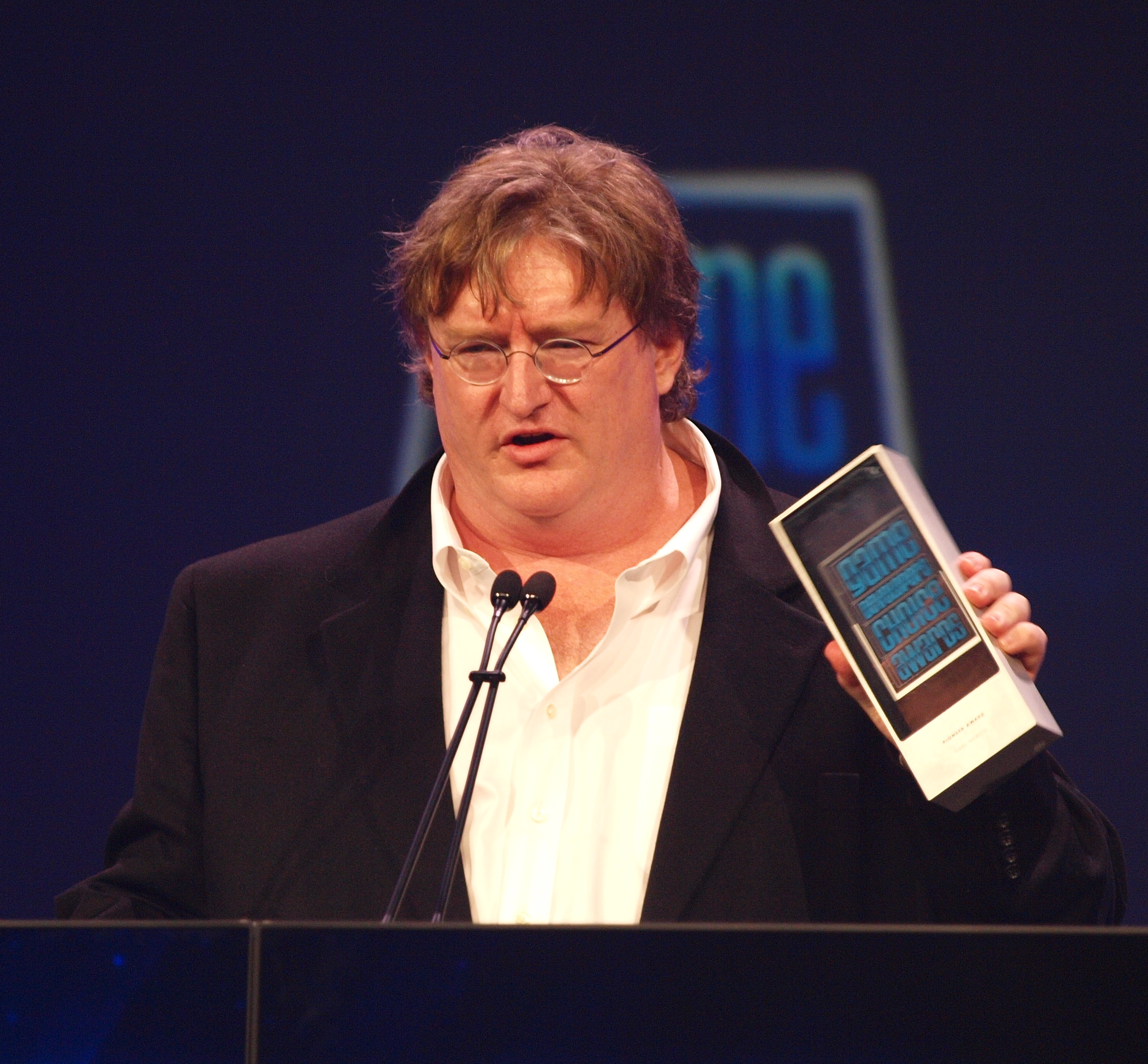 Gabe Newell at GDC in 2010, image from Wikipedia