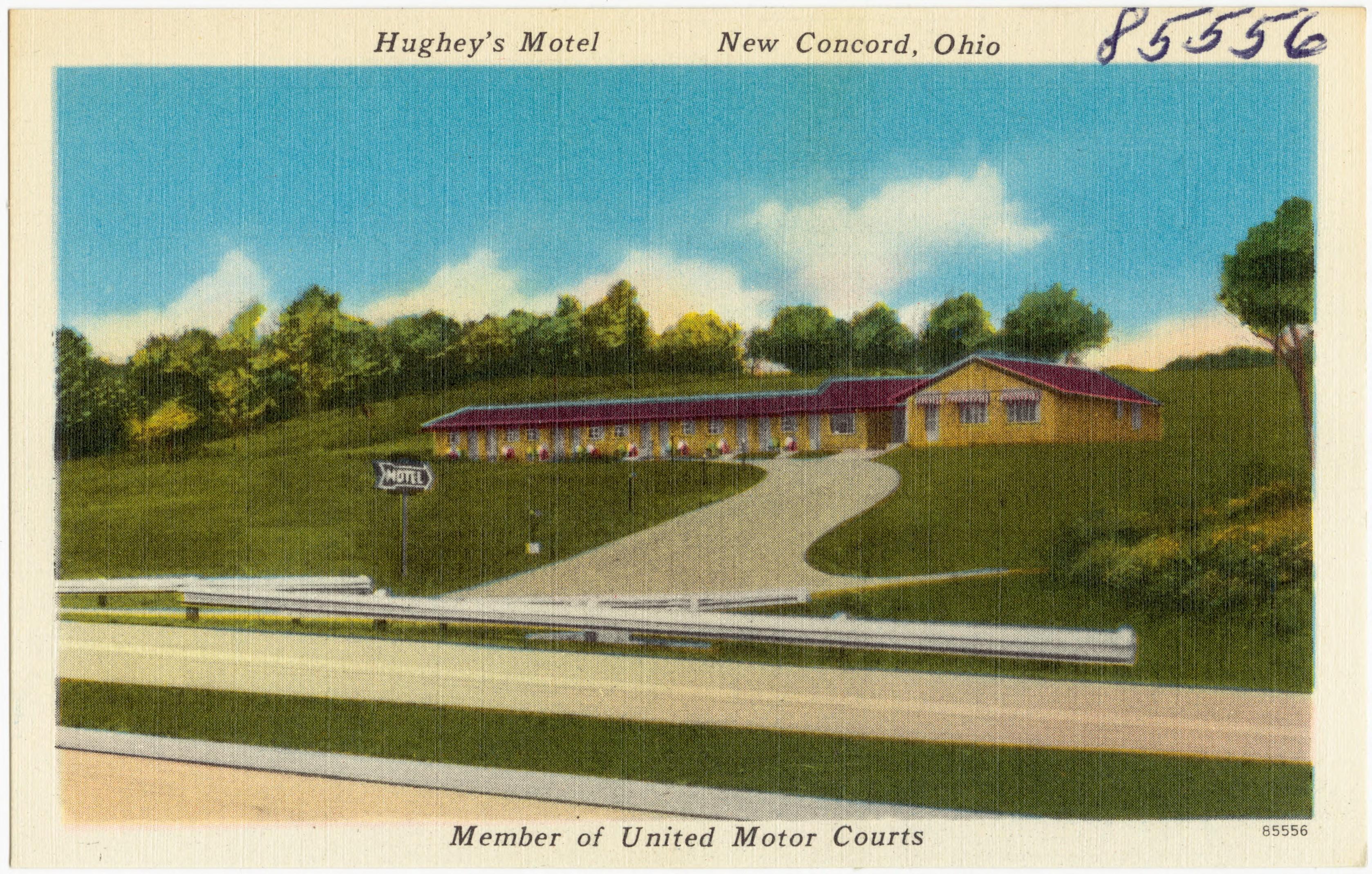 Ohio muskingum county new concord - File Hughey S Motel New Concord Ohio Member Of United States Motor Court