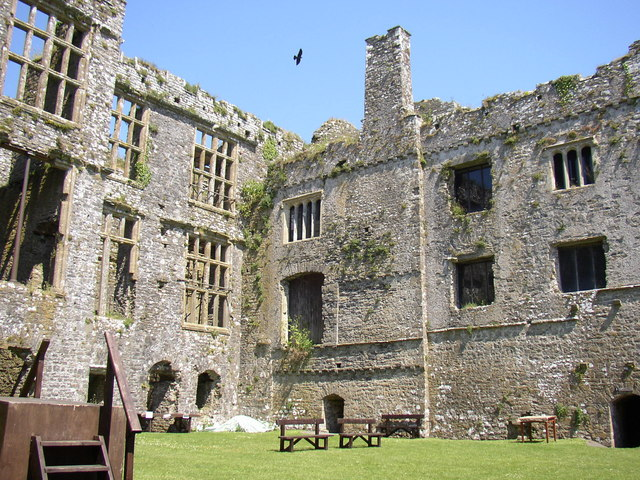 Internal view of Carew castle - geograph.org.uk - 314483