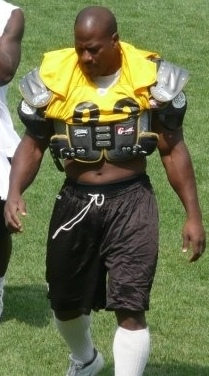 Harrison during Steelers Training Camp in 2008.