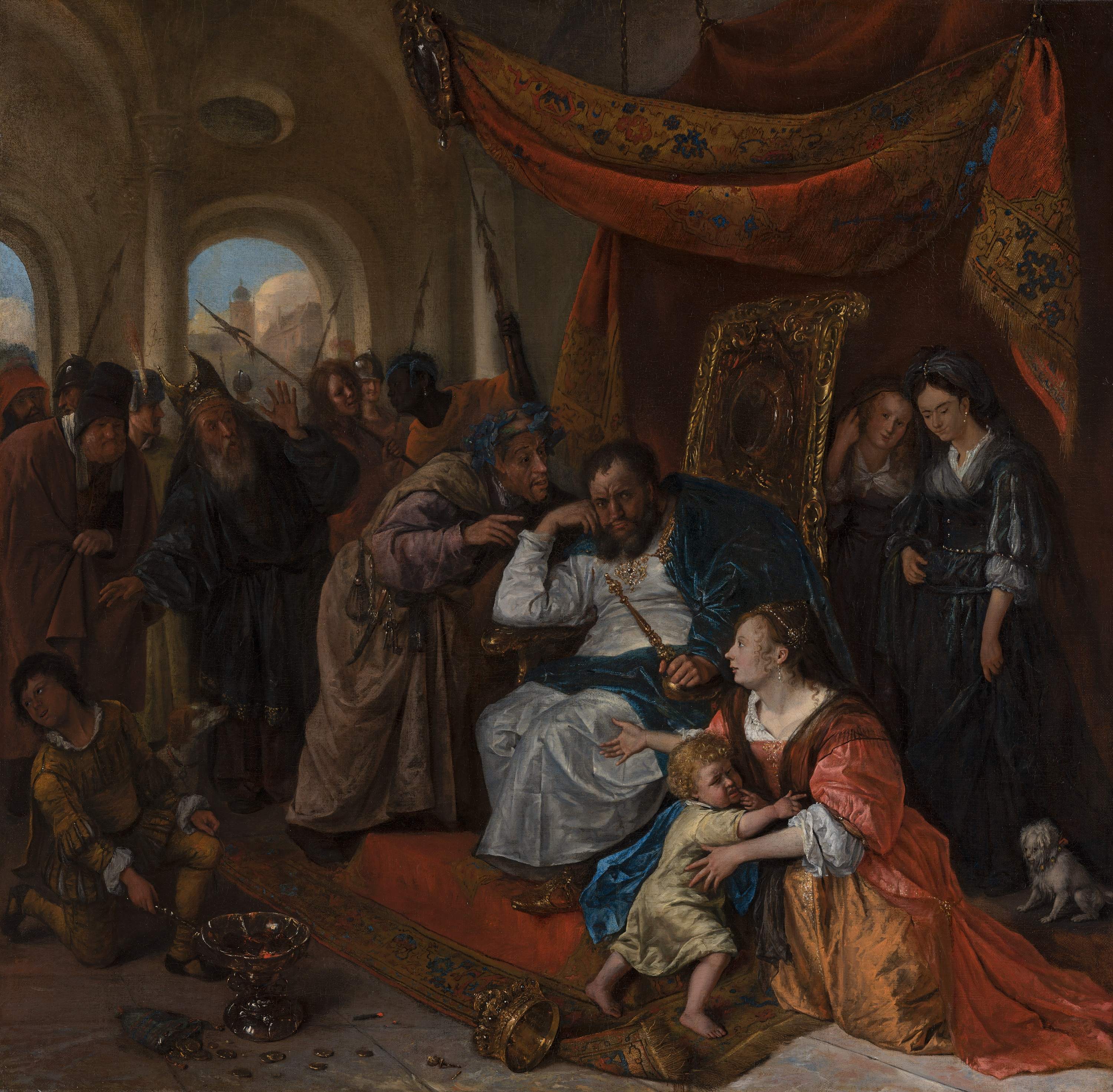 File:Jan Steen (1626-1679), Moses and Pharaoh's Crown, c