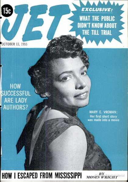 "Jet Vroman October 13, 1955 ""Cover"""