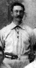 Jiggs Parrott standing as a member of the Chicago Colts in 1895.