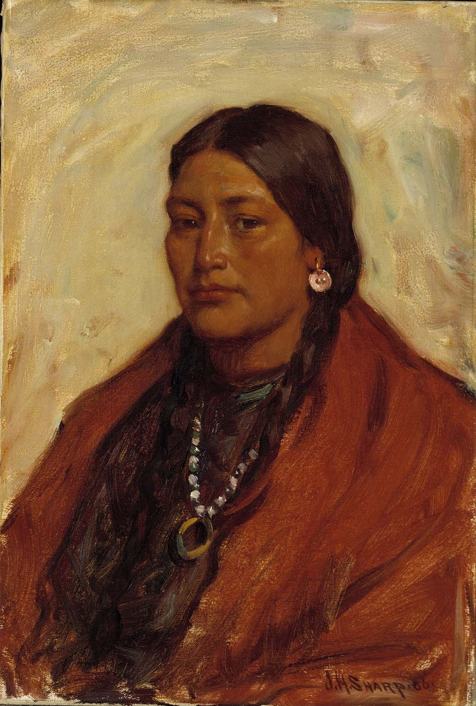 What Type Of Oil >> File:Joseph Henry Sharp - Medicine Shield, Crow Squaw