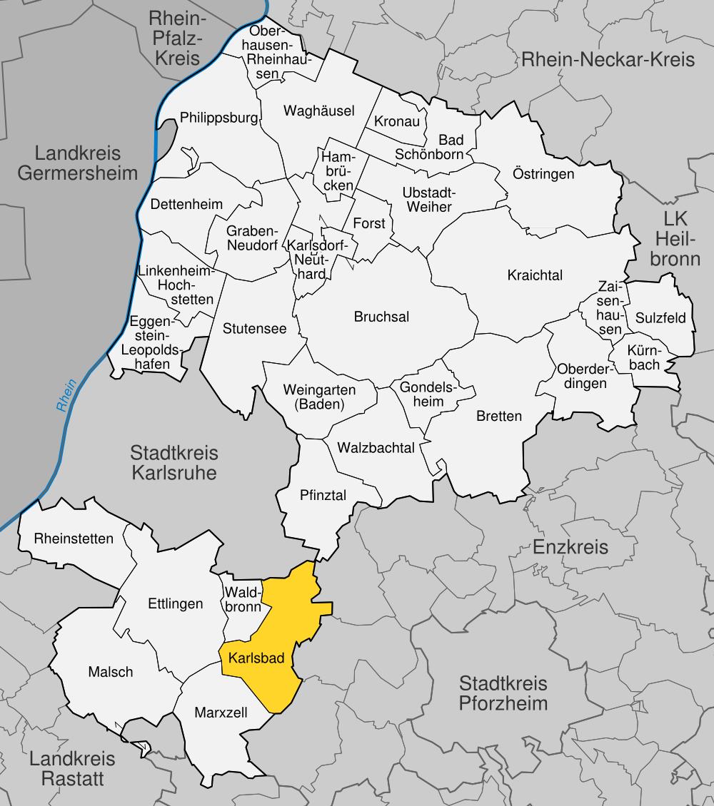 Map Of Germany Karlsruhe Baden.Karlsbad Baden Wikipedia