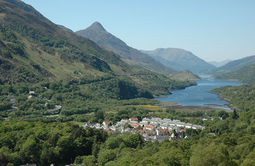 view over Kinlochleven